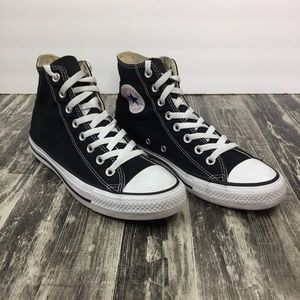 Converse Black High-Tops Size 9 Shoes Mens 7